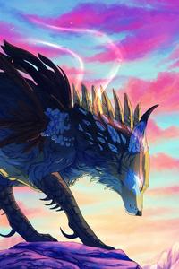 wolf mountains illustration 4k r6