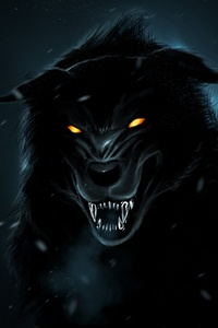 2160x3840 Wolf Orange Eyes 4k