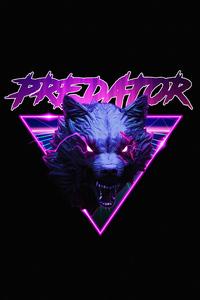 1440x2560 Wolf Predator Minimalist 4k