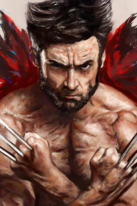 320x480 Wolverine 4k Artwork 2020