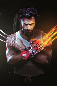 1440x2960 Wolverine Art 2020