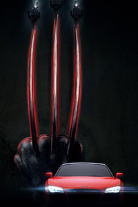 Wolverine Claws And Audi 4k