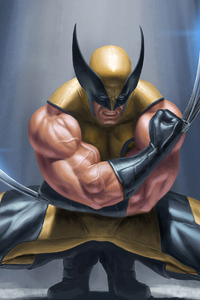 320x568 Wolverine Claws Artwork