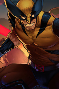Wolverine Comic Suit Artwork