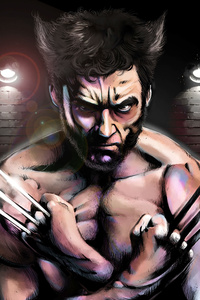 Wolverine Digital Art 4k
