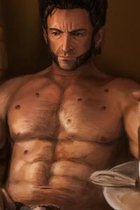 Wolverine Drinking