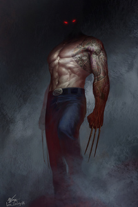 640x960 Wolverine Eyes Glowing