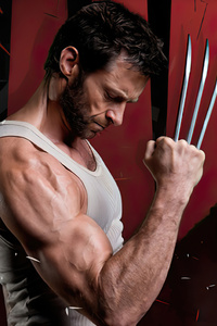 1440x2960 Wolverine Hugh Jackman 2020