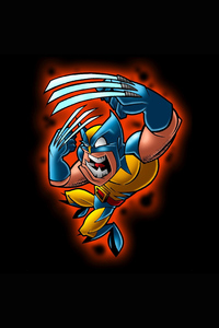Wolverine Minimal Art Funny 4k