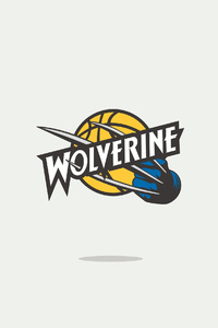 Wolverine Minimal Logo 4k