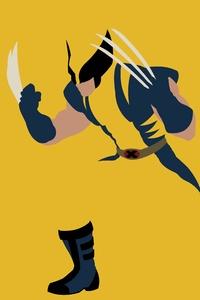 1280x2120 Wolverine Minimalism 5k