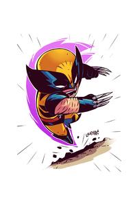 1080x2160 Wolverine Minimalism Artwork 4k