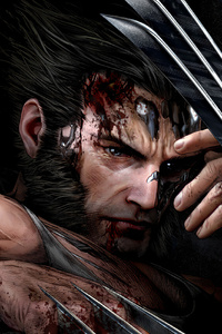 320x480 Wolverine Showing Claws