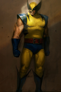 640x1136 Wolverine Smoking Art