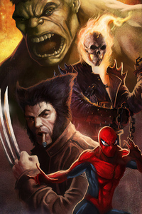 Wolverine Spiderman