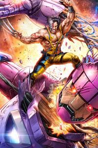 Wolverine Vs Sentinel Artwork 5k