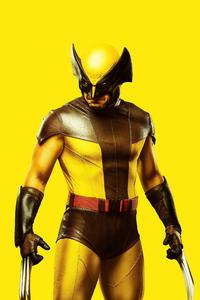 1440x2560 Wolverine Yellow Costume