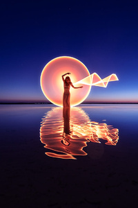 Women Chakra Water Lake Reflection