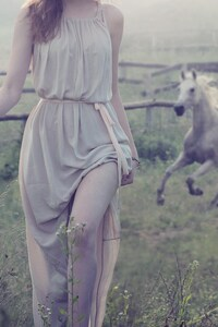 540x960 Women Outdoor With White Horse