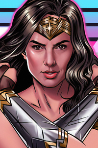 1080x2280 Wonder Woman 1984 Artwork New