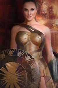 480x800 Wonder Woman 1984 Brush Art
