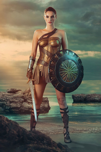 Wonder Woman 1984 Cosplay Girl 4k