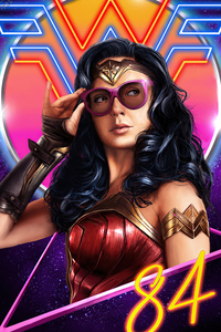 240x400 Wonder Woman 1984 Dc Art 4k