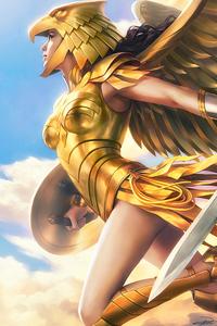 1080x2280 Wonder Woman 1984 Gold Suit