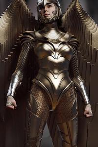Wonder Woman 1984 Golden Wing Armor 4k