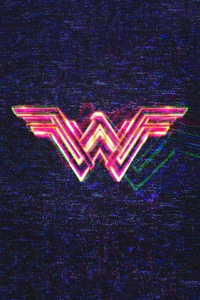 640x960 Wonder Woman 1984 Logo Poster