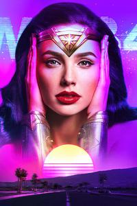 Wonder Woman 1984 Outrun Art 4k