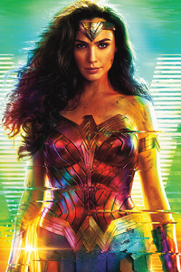 1080x2160 Wonder Woman 1984 Walking Poster 8k