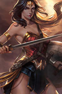 320x480 Wonder Woman 2019art