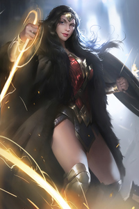 1242x2688 Wonder Woman 2020 4kartwork