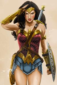 240x320 Wonder Woman 2020 5k
