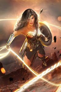 1280x2120 Wonder Woman 2020 Fan Artwork