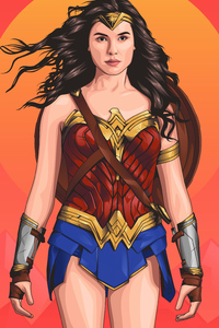 540x960 Wonder Woman 2020 Illustration
