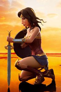 640x1136 Wonder Woman 3d Art