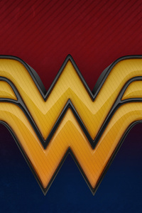 800x1280 Wonder Woman 3d Logo 4k