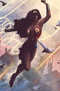 1080x2160 Wonder Woman 4k 2020