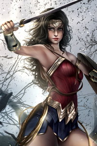 Wonder Woman 4k Digital Artwork