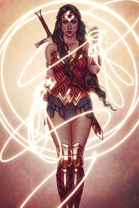 240x320 Wonder Woman 4kartwork 2020