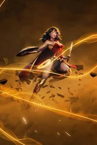 1280x2120 Wonder Woman Ability 4k