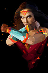 1280x2120 Wonder Woman Abstract Art