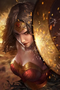 Wonder Woman Amazing Artwork Shield
