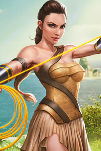 240x320 Wonder Woman Amazon