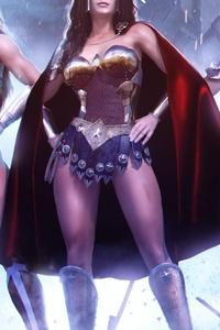 Wonder Woman And His Team 4k Art