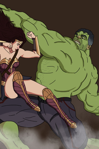 Wonder Woman And Hulk