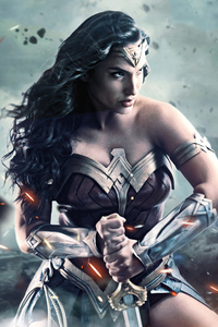 480x800 Wonder Woman Art 2020
