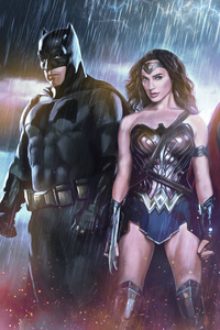 Wonder Woman Batman Superman 4k